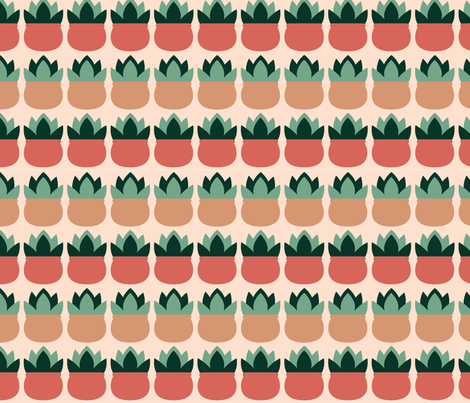 Succulent_blush fabric by jellypoprock on Spoonflower - custom fabric