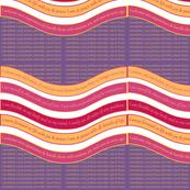 WAVE-WAPH Warm Apricot / Purple Heart background