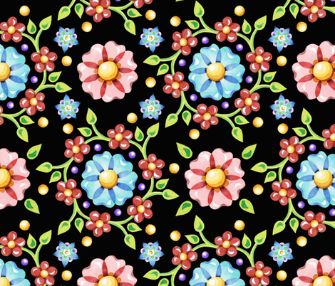 Millefiori Pinwheel fabric by patriciasheadesigns on Spoonflower - custom fabric