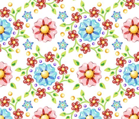 Millefiori Pinwheel fabric by patriciasheadesigns on Spoonflower - custom fabric