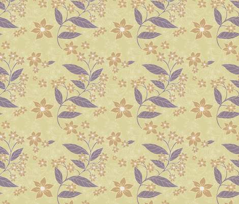 Palace Grounds Ginger Empress Garden fabric by margiecampbellsamuels on Spoonflower - custom fabric