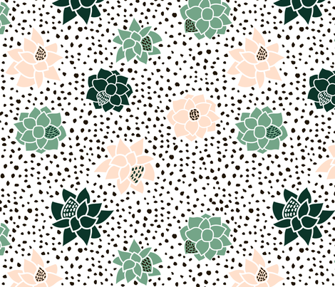 succulents_and_stone fabric by solodkayamari on Spoonflower - custom fabric