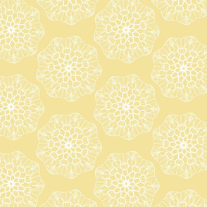 White Mandala Pattern