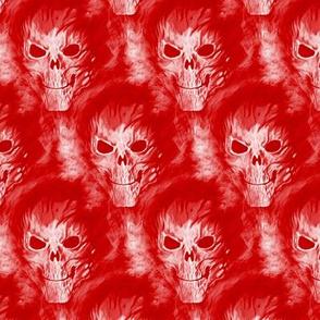 skull in red