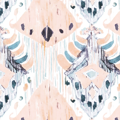 Ping and grey ikat fabric by tasiania on Spoonflower - custom fabric