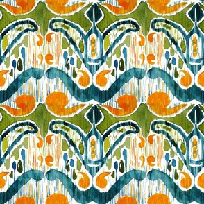 Green yellow ikat