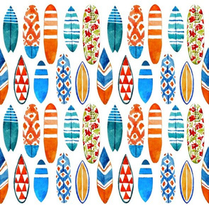 Watercolor surfboards