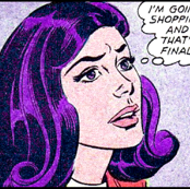 pop art comics woman lady vintage retro kitsch roy lichtenstein inspired comic strips comic books going shopping  final