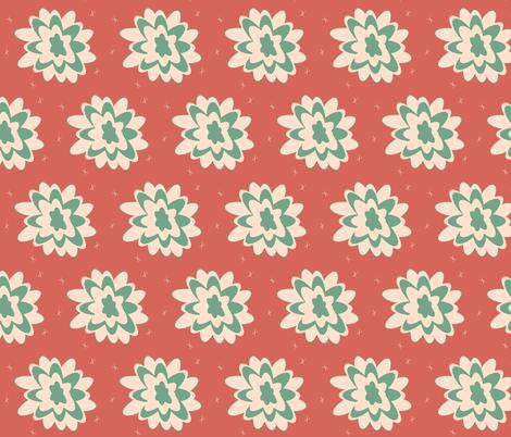 desert flower -  retro sunset fabric by drapestudio on Spoonflower - custom fabric
