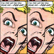 pop art comics woman lady vintage retro kitsch speech bubbles comic strips comic books modern words screaming shouting angry fed up  roy lichtenstein inspired