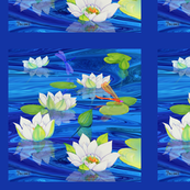 White_Water_Lilies_Panel_L