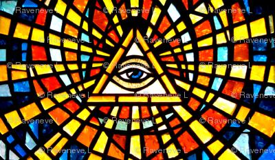 Illuminati Freemasons  all seeing eyes providence triangles Templar knights spiritual sacred stained glass  spiritual occult triangles shinning rays light glow glowing sun sacred geometry  Masonic rituals symbolism symbols mysterious tarot cards inspired