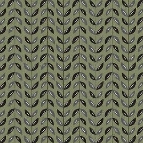 Sea Vines in Olive - Dusk Collection