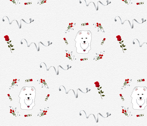 Samoyed Puppy Princess  fabric by designs_by_lee_ on Spoonflower - custom fabric