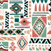 tribal ikat pattern