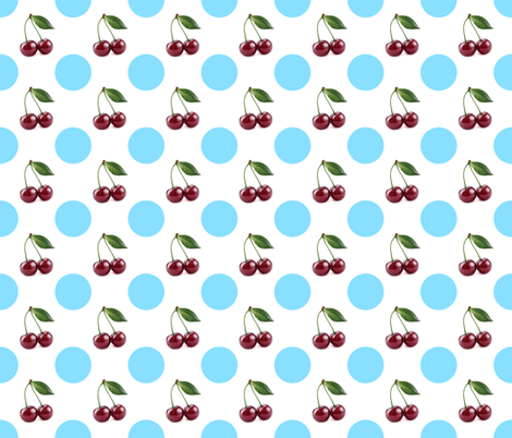 Cherry and Dot 2 fabric by cmay_designs on Spoonflower - custom fabric