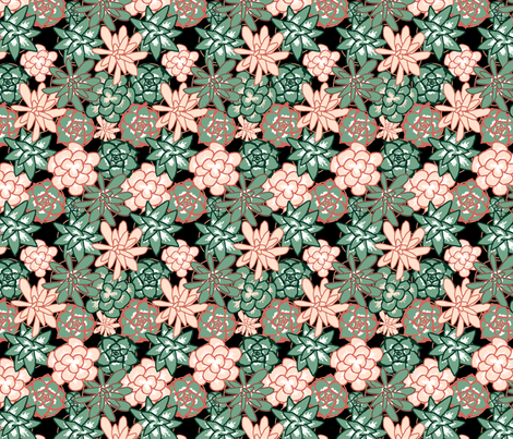 Lots of Succulents fabric by sammichsewing on Spoonflower - custom fabric