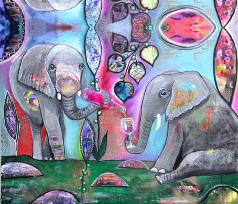 Elephant Party fabric by carolscanvas on Spoonflower - custom fabric