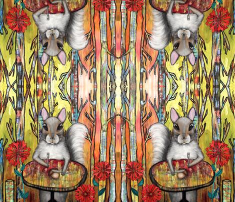 Squirrel on Diet fabric by carolscanvas on Spoonflower - custom fabric