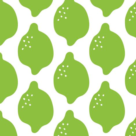Green Limes fabric by jacquelinehurd on Spoonflower - custom fabric