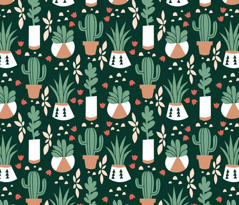 Succulents_and_Cacti fabric by kristeentibbits on Spoonflower - custom fabric