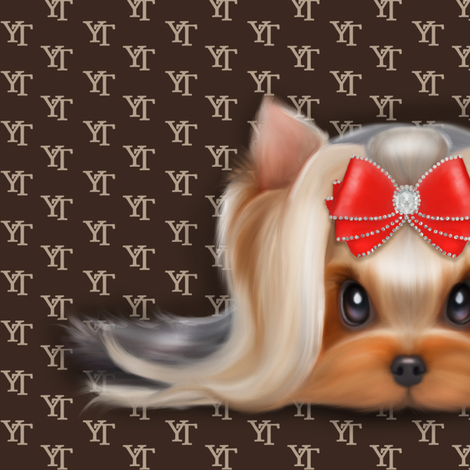Yorkie Beauty YT XL fabric by catialee on Spoonflower - custom fabric