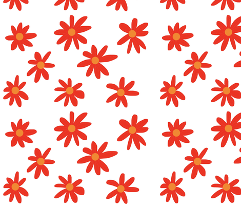 Bold Daisies fabric by napolicreates on Spoonflower - custom fabric