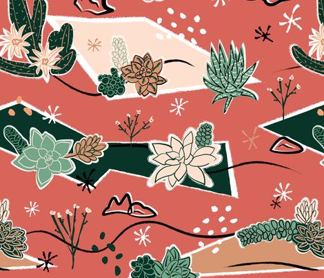 Succulents Barkcloth fabric by mintgreensewingmachine on Spoonflower - custom fabric