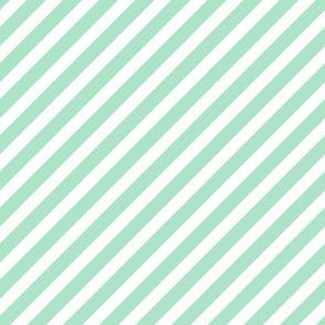 mint stripes fabric