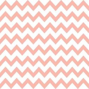 peach chevron fabric