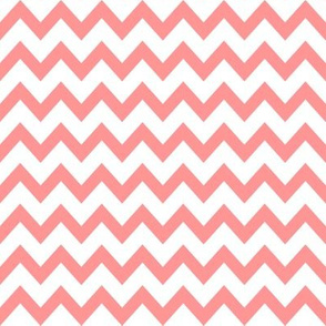 coral chevron fabric