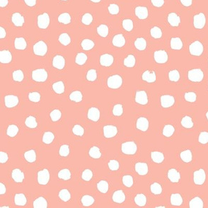 peach dots fabric
