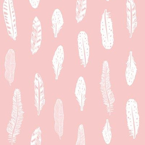 feathers fabric pink baby girl nursery design
