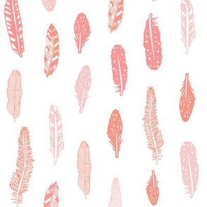 feathers fabric pink baby girl nursery design peach and pink
