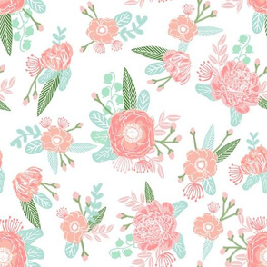 floral fabric baby nursery fabric