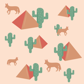 Jackal, Pyramids & Cacti