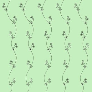 Daisy Chain Black on Green