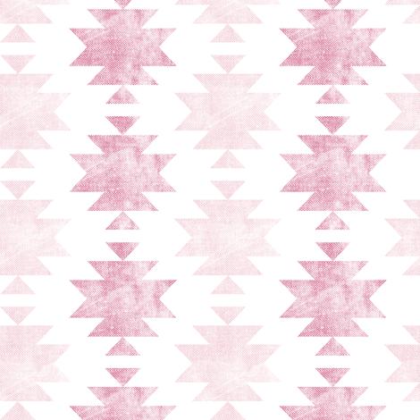 modern aztec || boho distressed fabric by littlearrowdesign on Spoonflower - custom fabric