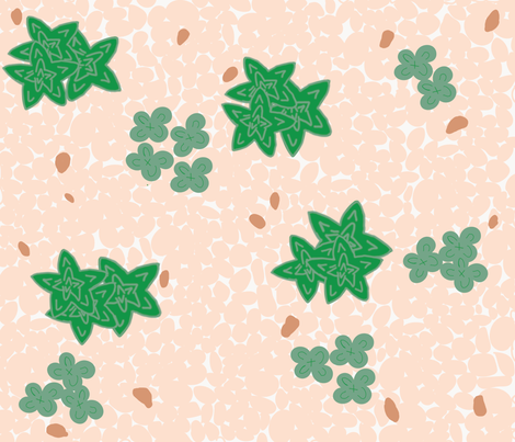 Succulents and Pebbles fabric by lilymorgan on Spoonflower - custom fabric