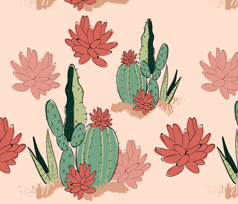 Floral Arizona fabric by roxanne_cyr on Spoonflower - custom fabric