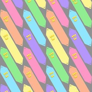 Pastel Rainbow Mezuzahs