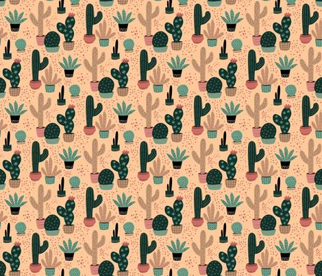 Desert Garden fabric by designs_by_lisa_k on Spoonflower - custom fabric