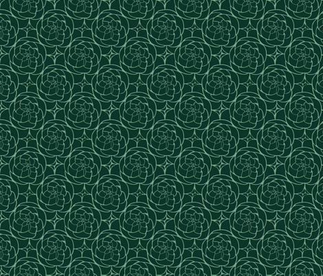 Succulents in Green fabric by thewellingtonboot on Spoonflower - custom fabric
