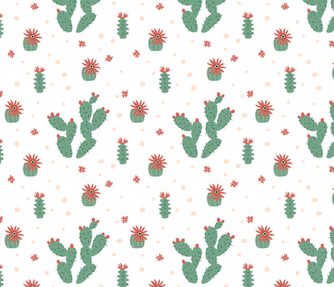 Zen Succulents fabric by insalataillustrata on Spoonflower - custom fabric