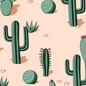 cactaceas desert (limited palette)