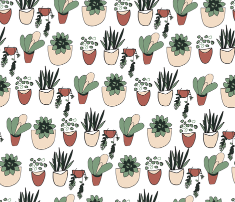 Suculents fabric by rjswit on Spoonflower - custom fabric