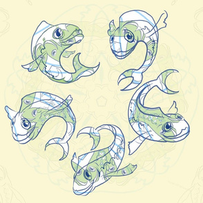 Five Fish Dance Beige