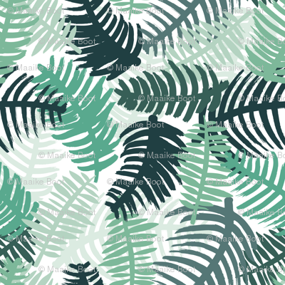 Green tropical hawaiian summer garden brazil plants and palm leaves green