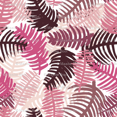 Green tropical hawaiian summer garden brazil plants and palm leaves pink SMALL