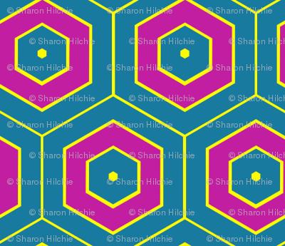 Jewel Toned Hexagons